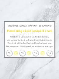 Baby Shower Thoughts For A Card Cute As A Button Book Request Card Baby Shower Book Request Card