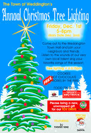 christmas tree lighting town of weddington