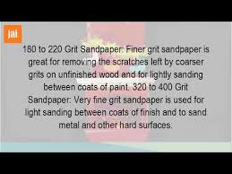 what grit for sanding between coats of paint youtube