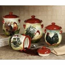 rooster kitchen canister sets country canister sets for kitchen foter