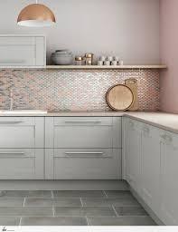 large tile kitchen backsplash pink and grey metal wall tiles backsplash for modern kitchen