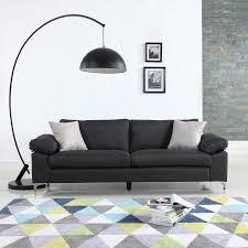 modern linen low profile sofa walmart com