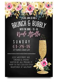 chagne brunch invitations chalkboard bridal shower invitation brunch and bubbly invite