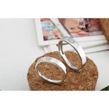 couple rings set images Moon wings sterling silver heart adjustable rings couple rings set jpg