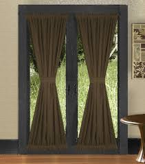 Drapes Over French Doors - good curtains over french doors on home curtains solid brown
