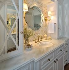 Antique Brass Bathroom Vanity Lighting With Unique Bathroom