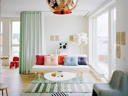 living room stylish living room features mint green curtains also