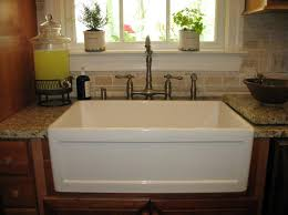 Apron Front Sinks For Kitchens  Stylish White Kitchen Designs - Farmer kitchen sink