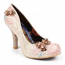 wedding shoes irregular choice choice speak easy 4331 06c womens court shoes ivory