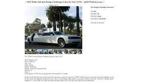 Dodge Challenger Limo - craigslist limos gone crazy