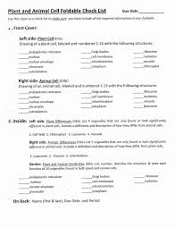 Cell Membrane Worksheet Plant And Animal Cell Foldable Check List Pdf Google Drive