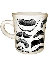 great mustaches mug 14 mustaches including mark twain lao tzu