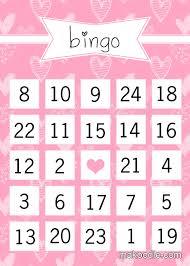 valentines bingo makoodle