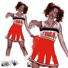 Cheerleader Halloween Costume Zombie Cheerleader Women U0027s Fancy Dress Ebay