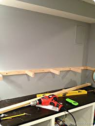 Building Floating Shelves by Building Diy Wood Floating Shelves From Thrifty Decor