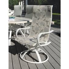 Swivel Rocker Patio Dining Sets Homecrest Hill Sling High Back Patio Swivel Rocker Dining