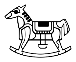 rocking horse outline coloring book colouring coloring book