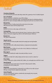 cocktail drinks menu dessert vassos fish tavern