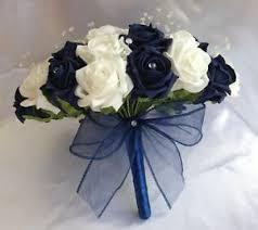 wedding flowers blue and white wedding flowers navy blue white foam bouquet