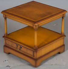 Yew Side Table Antique Style Yew End Table