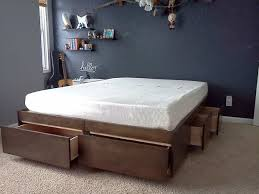Heavy Duty Diy Bed Youtube by Platform Bed With Drawers 8 Steps With Pictures