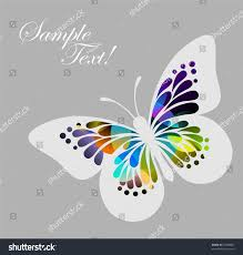 colored butterfly on grey background stock vector 53068087