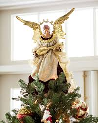 amazon com noel angel christmas tree topper by balsam hill home