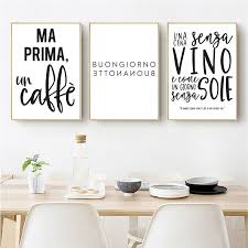 black and white prints for kitchen italian quotes typography prints kitchen wall pictures