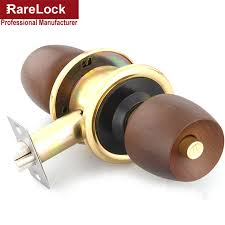 Interior Door Lock Key Rarelock Supplies Beech Wooden Handle Spherical Interior