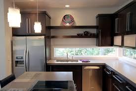 kitchen window backsplash window backsplash undermount sink cylinder pendant light brown