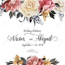wedding greeting card greeting card with roses watercolor can be used as invitation