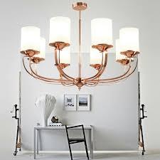 rose golden luxury livingroom chandelier beonelighting com
