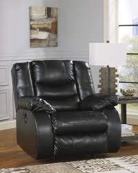 buy linebacker durablend black rocker recliner by benchcraft