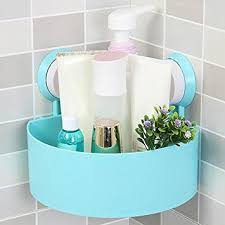 Storage Boxes Bathroom Plastic Suction Cup Bathroom Kitchen Corner Storage