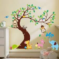 stickers animaux chambre bébé stickers animaux afrique stickers muraux girafe ambiance