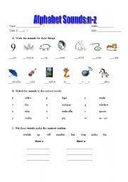 worksheet phonics alphabet sounds n z