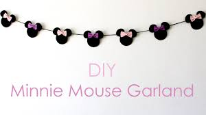 How To Make Halloween Garland Diy Minnie Mouse Garland Youtube