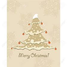 vintage christmas tree vintage christmas card beautiful christmas tree illustration
