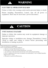tstwha01 cor 5c thermostat user manual sentinel installation