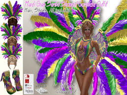 second marketplace mardi gras samba showgirl complete