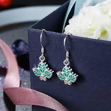 christmas tree leaves deer delicate gift ear drop earrings at banggood