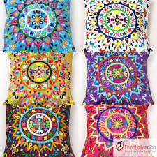 details about floral pattern indian cushion covers surya