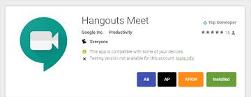 hangouts apk hangouts meet app is out for android apk