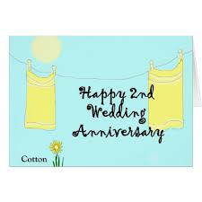 2nd wedding anniversary 2nd wedding anniversary card zazzle co uk