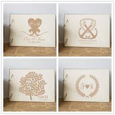 rustic wedding album aliexpress buy personalized wedding guest book custom