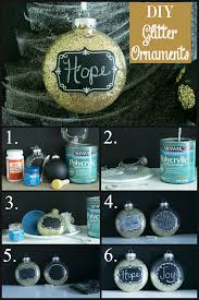 diy glitter and polka dot ornaments home with
