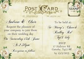 vintage postcard invitation template search g h wedding