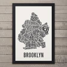 Neighborhood Map Brooklyn Nyc Neighborhood Typography City Map U2013 Flying Junction Co