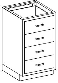3 Drawer Base Cabinet Base Cabinet 24 1 8