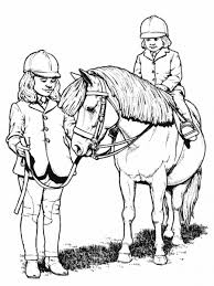 little riding horse animal coloring pages color horses